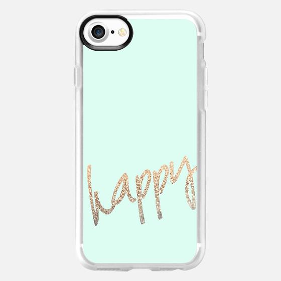 HAPPY GOLD MINT by Monika Strigel iPhone 6 case - Wallet Case