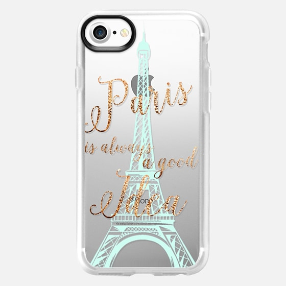 I LOVE PARIS transparent faux gold  for HTC One M8 by Monika Strigel - Wallet Case