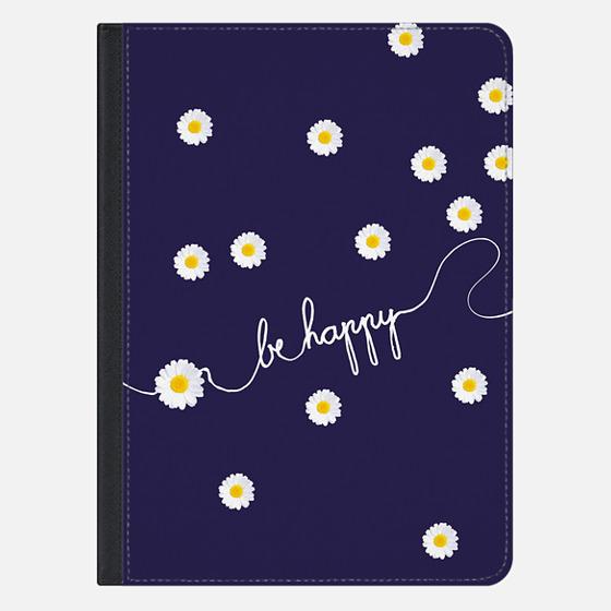 HAPPY DAISY iPad Cover by Monika Strigel