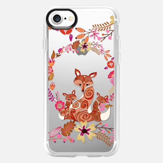 FOX & FLOWERS by Monika Strigel Crystal Clear iPhone 6 - Wallet Case
