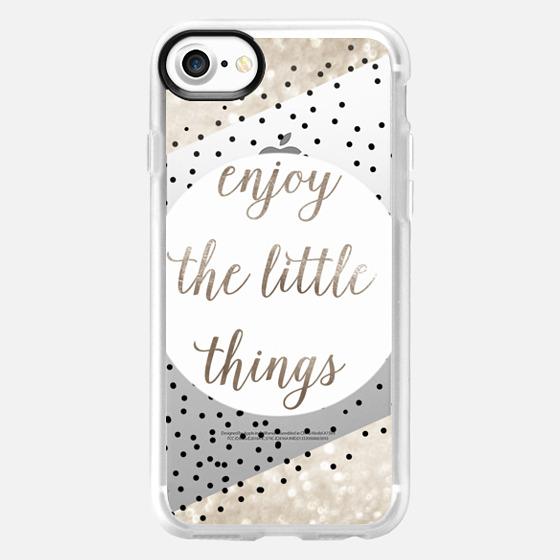 ENJoY THE LITTLE THINGS for iPhone 5s METALUX by Monika Strigel - Wallet Case