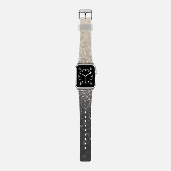 NUDE BLACK FAUX GLITTER Apple Watch Strap -