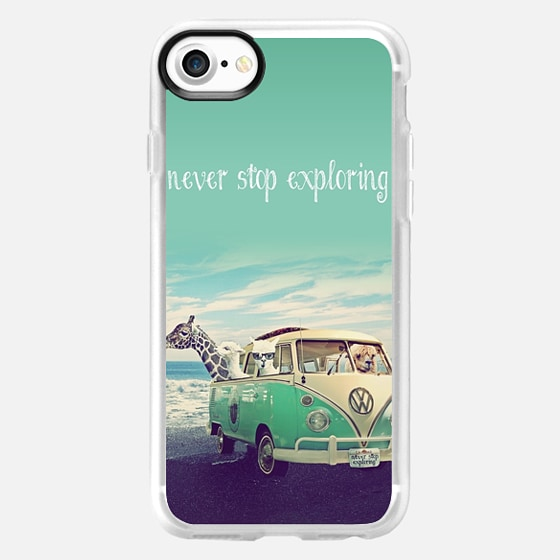 NEVER STOP EXPLORING THE BEACH by Monika Strigel - Wallet Case