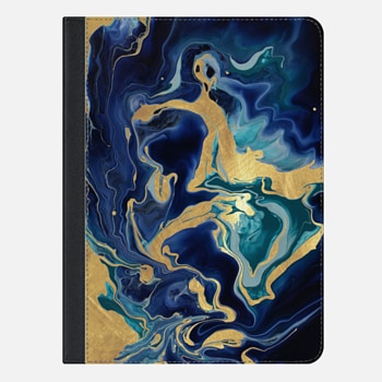 iPad Air 2 Case GO CHIC BLUE & GOLD by Monika Strigel iPAD