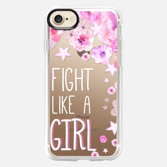 FIGHT LIKE  A GIRL for Breastcancer Awereness by Monika Strigel - Wallet Case