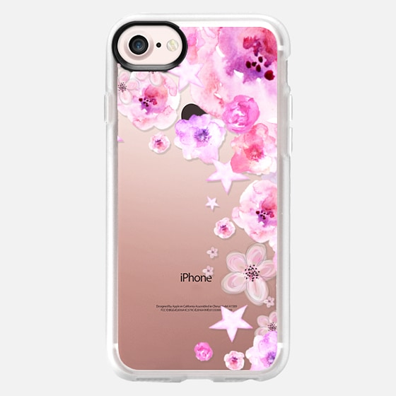 PINK FLOWERS & STARS - Breast Cancer Awereness by Monika Strigel - Wallet Case