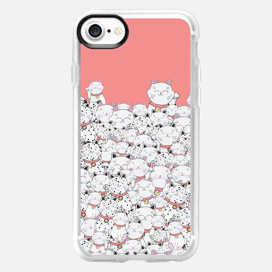 FIND THE PANDA CAT CORAL by Monika Strigel for Samsung Galaxy S6 - Wallet Case