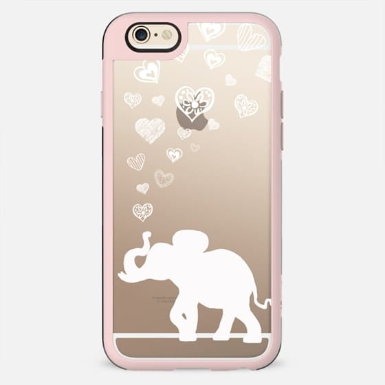 HAPPY ELEPHANT HEARTS (Wood Case) by Monika Strigel - New Standard Case