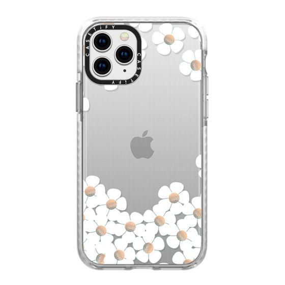 iPhone 11 Pro Cases - GOLD DAISY RAIN iPhone 6 by Monika Strigel
