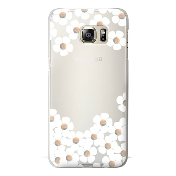 Samsung Galaxy S6 Edge Plus Cases - GOLD DAISY RAIN iPhone 6 by Monika Strigel