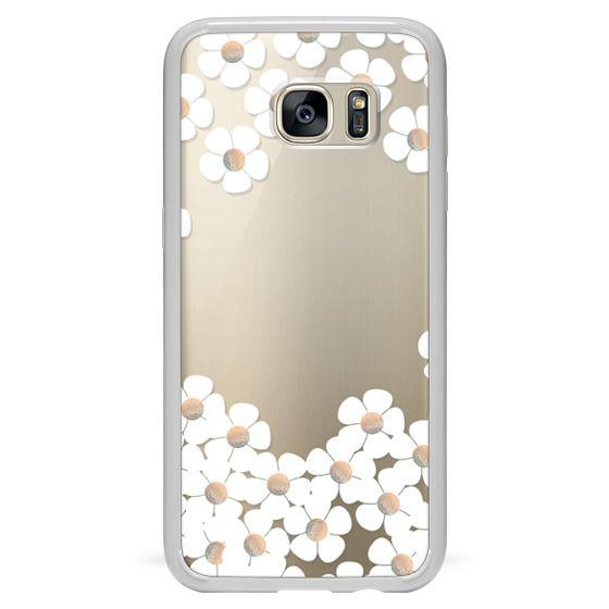 Samsung Galaxy S7 Edge Cases - GOLD DAISY RAIN iPhone 6 by Monika Strigel