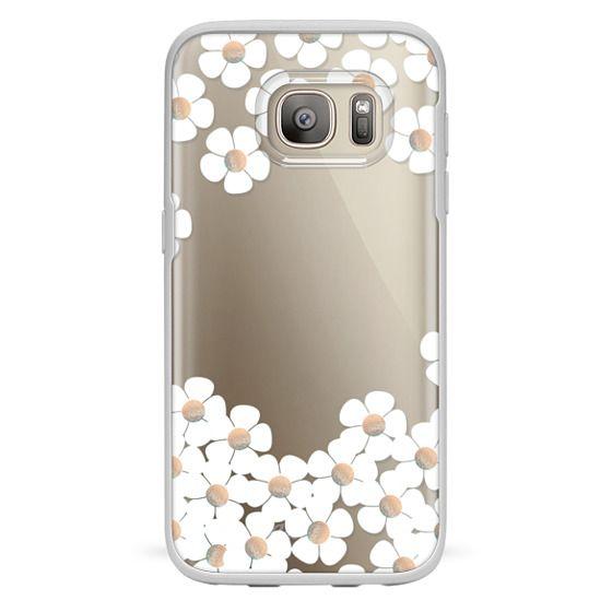 Samsung Galaxy S7 Cases - GOLD DAISY RAIN iPhone 6 by Monika Strigel