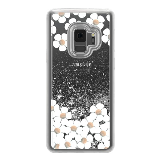 Samsung Galaxy S9 Cases - GOLD DAISY RAIN iPhone 6 by Monika Strigel