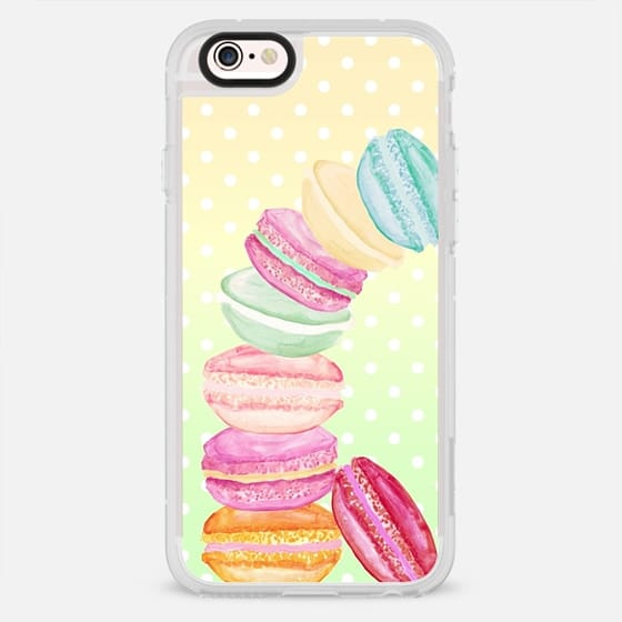 MACARONS AND DOTS YELLOW by Monika Strigel