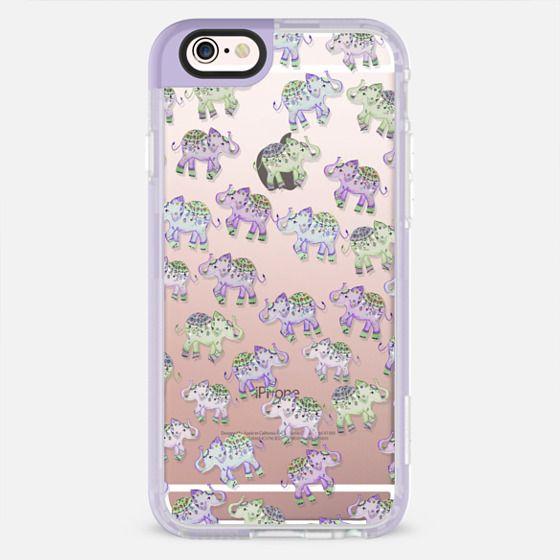 LUCKY ELEPHANTS PURPLE by Monika Strigel iPhone 6s - New Standard Pastel Case