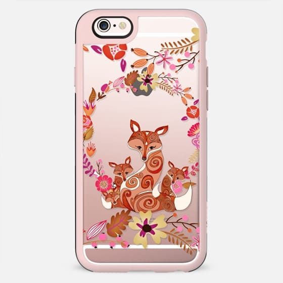 FOX & FLOWERS on Wood by Monika Strigel - New Standard Case