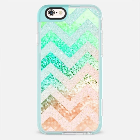 SUMMER CHEVRON MELON by Monika Strigel - New Standard Pastel Case