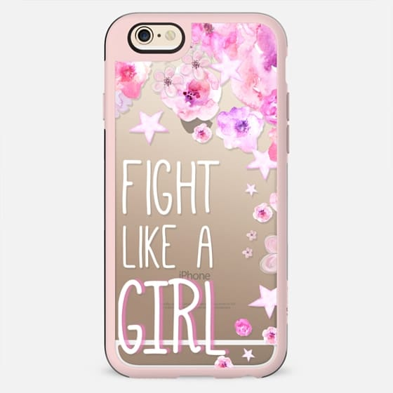 FIGHT LIKE  A GIRL for Breastcancer Awereness by Monika Strigel - New Standard Case