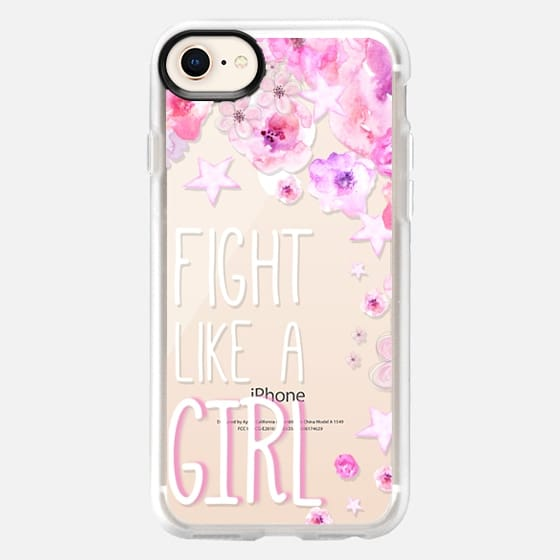 FIGHT LIKE  A GIRL for Breastcancer Awereness by Monika Strigel - Snap Case