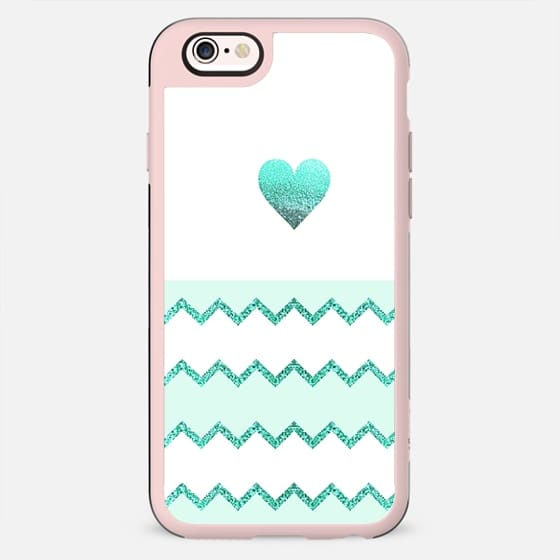 AVALON HEART MINT Galaxy Note 4 by Monika Strigel - New Standard Case