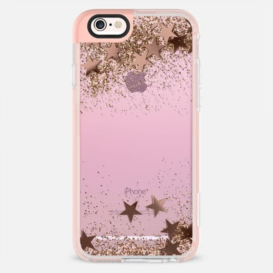 SHAKY STARS ON PINK BY MONIKA STRIGEL -