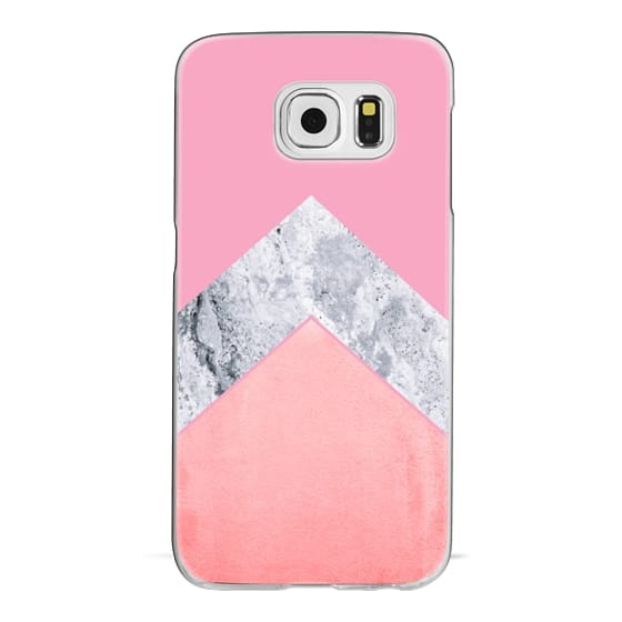 iPhone 6s Cases - MARBLE & CORAL by Monika Strigel for Galaxy S6