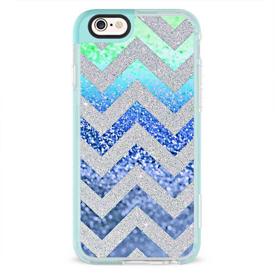 iPhone 6s Cases - SUMMER CHEVRON BLUE by Monika Strigel