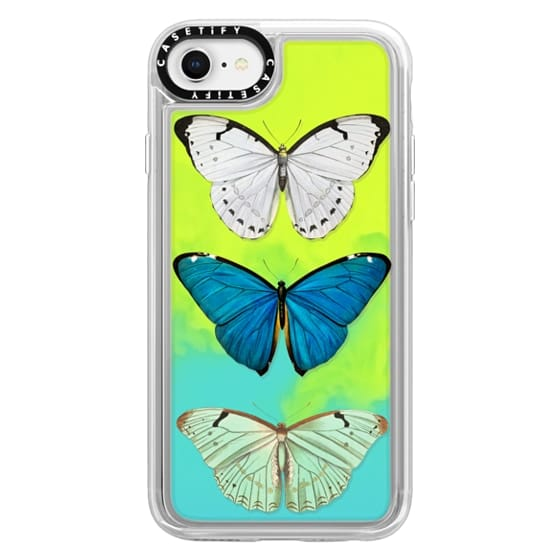 iPhone 8 Cases - BUTTERFLY COLLECTION BLUE by MONIKA STRIGEL-