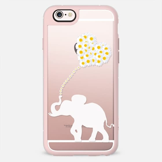 DAISY HEART ELEPHANT by Monika Strigel -