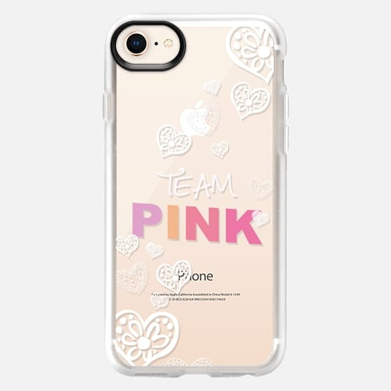 TEAM PINK for BREASTCANCER AWERENESS by Monika Strigel - Snap Case