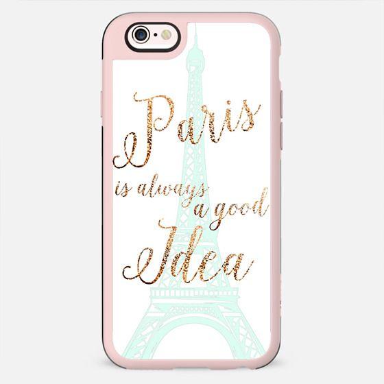 I LOVE PARIS MINT WHITE by Monika Strigel iPhone 6 - New Standard Case