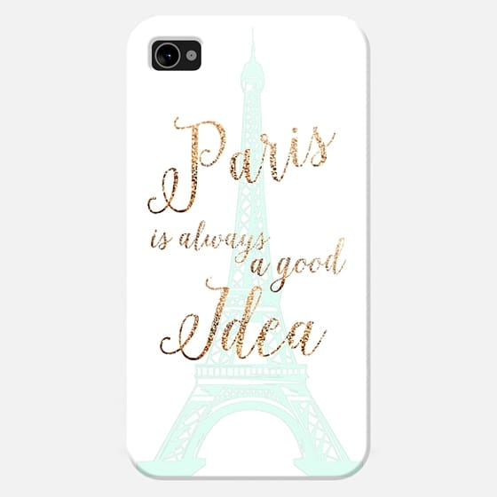 I LOVE PARIS mint by Monika Strigel for iphone 4 / 4s - New Standard Case