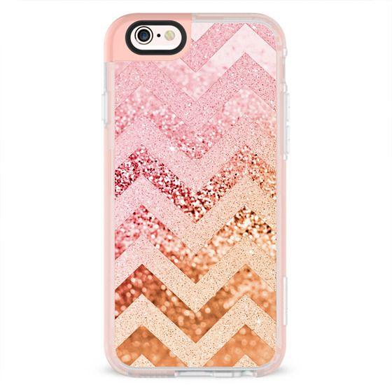 iPhone 6s Cases - SUMMER CHEVRON PEACH by Monika Strigel