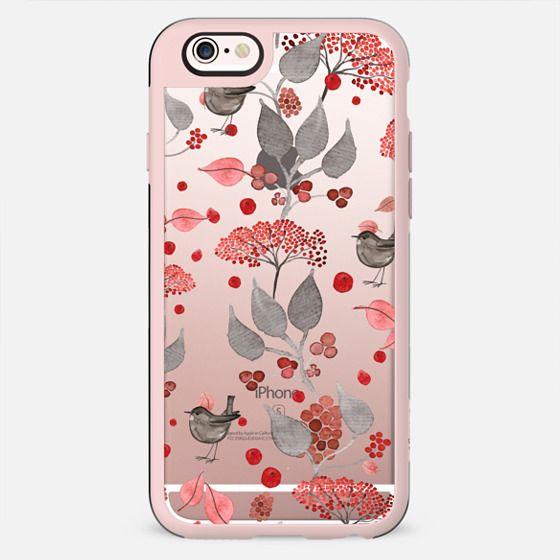 BIRDIES & BERRIES on black iPhone 5 by Monika Strigel -