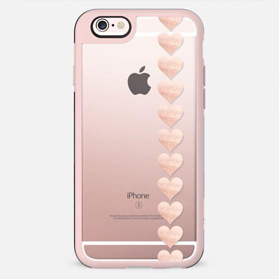 ROSÈ HEARTS Transparent iPhone 6 by Monika Strigel - New Standard Case