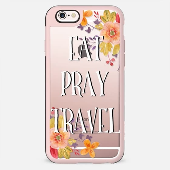 EAT - PRAY - TRAVEL FLOWER by Monika Strigel - New Standard Case