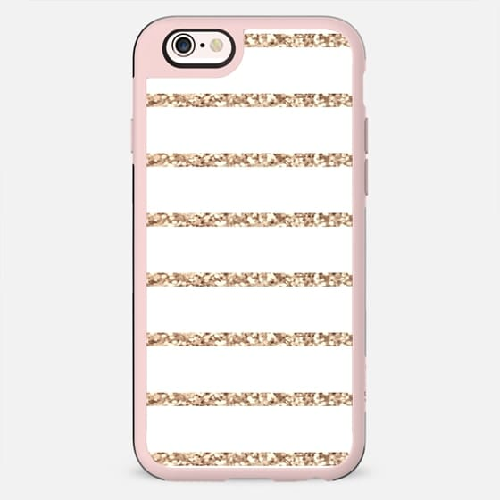 GATSBY GOLD STRIPES & WHITE iphone case -