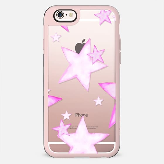 TIFFANY PINK STARS transparent iphone case - New Standard Case