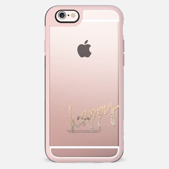 PRETTY HAPPY Transparent Case by Monika Strigel for iPhone 5 -