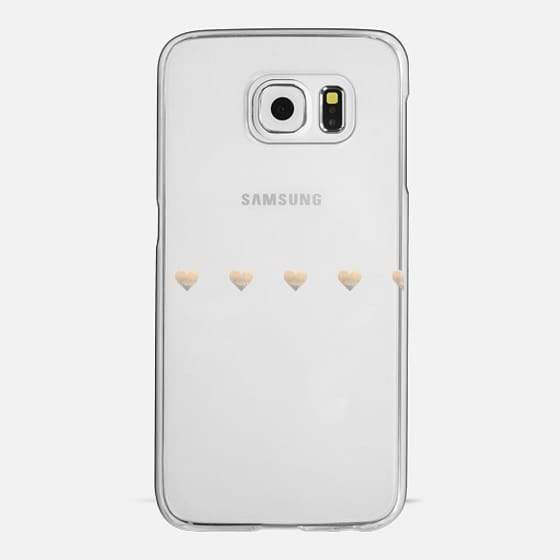 LITTLE GOLD HEARTS Samsung Galaxy S4 transparent case - Classic Snap Case