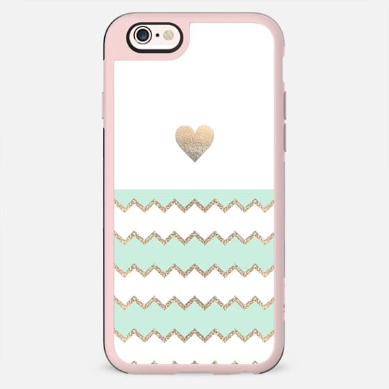 AVALON HEART SEAFOAM by Monika Strigel iPhone 6 - New Standard Case