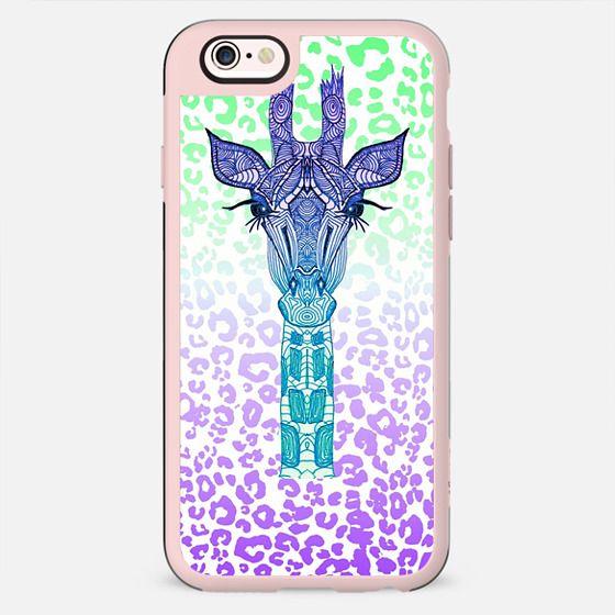 NEON GIRAFFE iphone case -