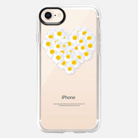 DAISY HEART iPhone 5 Transparent - Snap Case