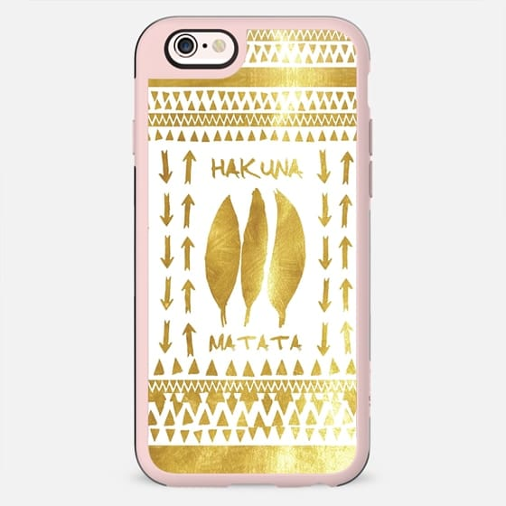 HAKUNA MATATA GOLD & WHITE by Monika Strigel - New Standard Case