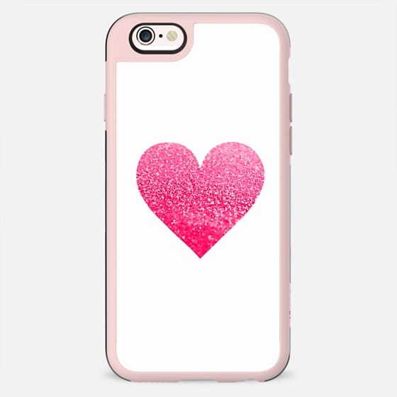 GATSBY CORAL HEART BLACK FRAME iphone 5