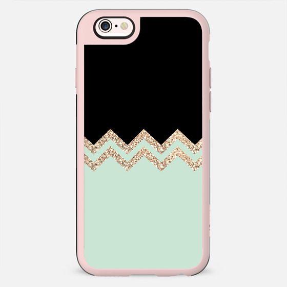 TWINS Black & Seafoam by Monika Strigel iPhone 6 - New Standard Case