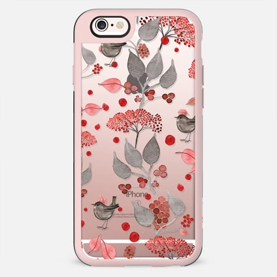 BIRDIES & BERRIES on black iPhone 5 by Monika Strigel