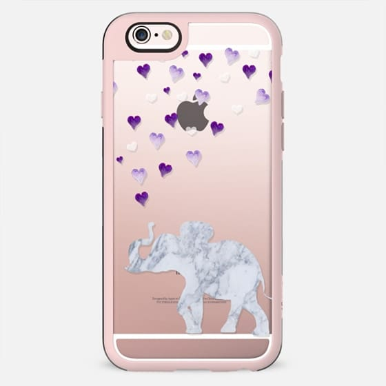 MARBLE ELEPHANT & PURPLE HEARTS by Monika Strigel - New Standard Case
