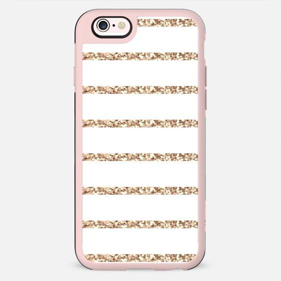 GATSBY GOLD STRIPES & WHITE iphone case