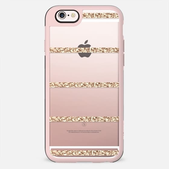GATSBY GOLD STRIPES Crystal Clear iphone case -